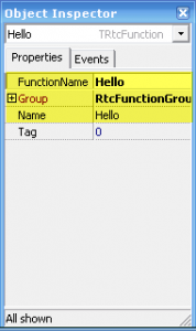 RtcFunction Properties